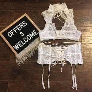 Victoria's Secret High Neck Bralette Waist Cincher